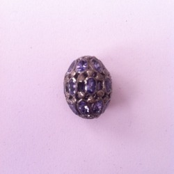 Diamonds And Tz Silver Pave Beads