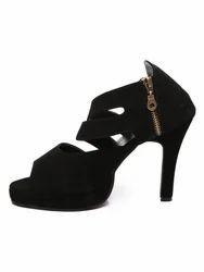 black lydia heels