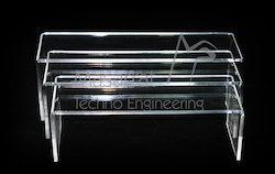 Acrylic - 3 Risers Set Long Acrylic Display Stand 12