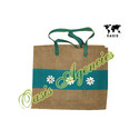 Jute Leather Combination Bags