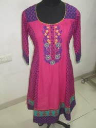 Cotton Anarkali Kurtis