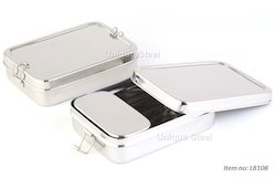Big Rectangular Stainless Steel Lunch Box