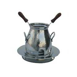 SS Hammered Table Service Tandoor