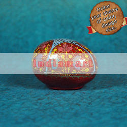 Red Artificial Easter Egg - Customized Painting
