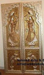 Silver Temple Door & Antique Doors - Hand Carved Door Exporter from Udaipur