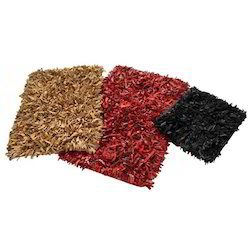 Leather Shaggy Rugs