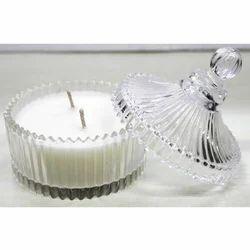 Round Powder Glass Jar Candle