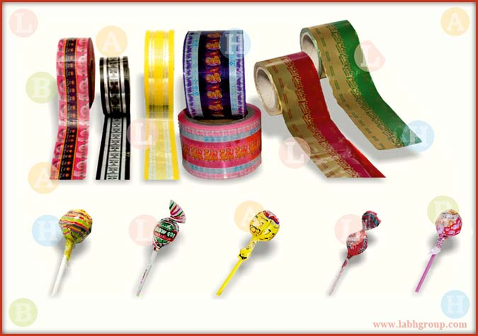 Printed Twist Wrap Packing Material for Lollipops