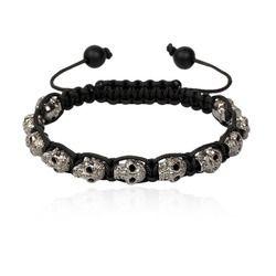 Diamond Skull Macrame Bracelet