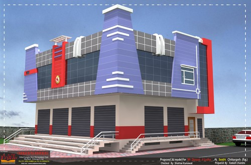 Commercial building front elevation designs images for House exterior design photo library