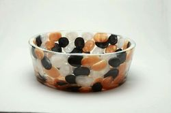 Thali Black Golden White Pearl Pebbles Washbasin