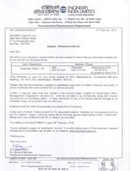 Engineers India Limited EIL Certificate