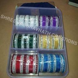 Assorted Color Designer Bangle Set