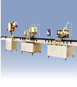 automatic linear bottle rinsing filling capping line