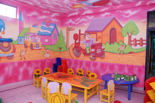 Preschool Classroom Furnitures ~ School wall paintings theme manufacturer from