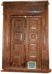 Vintage Carved Front Door