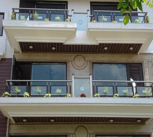 Front Elevation Designs With Glass : Front railing manufacturer from delhi