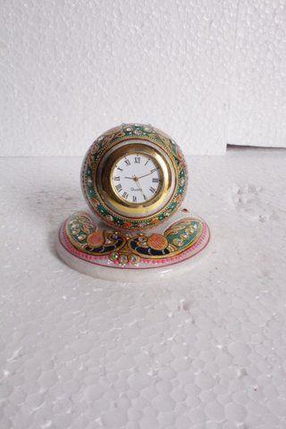 Clock with Meenakari