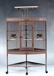 Corner Parrot Stand