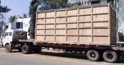 Heavy Wooden Packing Case on Container