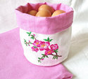 100% Linen Bread Basket