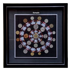 50 World Coins with Framing