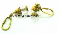 Ship Lamp Brass Key Ring