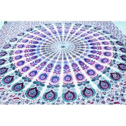 Sanganeri Fine Print Cotton Double Bed Sheets