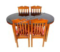 Teak Wood Oval Dining Table
