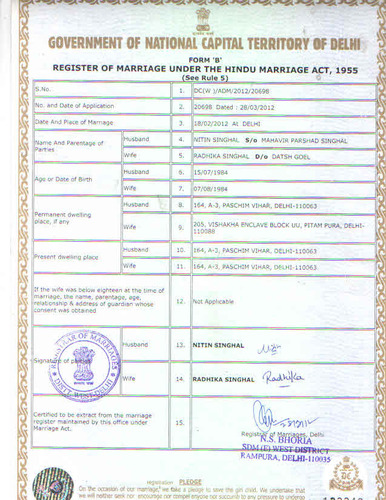 Delhi marriage registration court marriage registration marriage certificate hindu marriage certificate yadclub Image collections