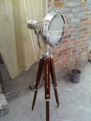 spot light lamp round nickel finish