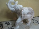 Antique Indian Elephant Statue Italian Alabaster Souvenir