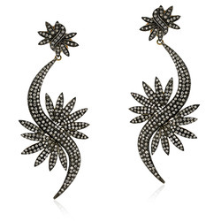 Designer Pave Diamond Earrings