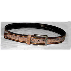 Leather Tow Tone Finish Belts