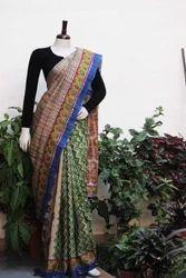 Hand Block Printed Handloom Saree
