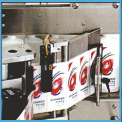 Automatic Labelling Machine for Two Side Sticker Labelling