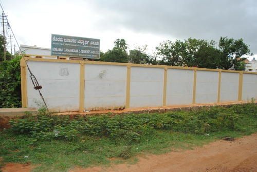 Ready Made Wall Compound : Building material ready compound wall with design and