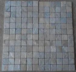 Himachal White Quartzite Stone Mosaic Tiles