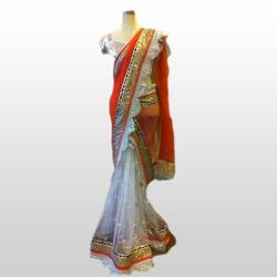 Net Saree with Lace Border