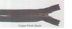 Copper Finish Zipper
