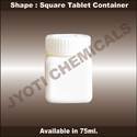 Square Tablet Container