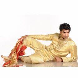 Fabulous Golden Semi Sherwani