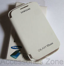 Samsung Galaxy Y Duos S6102 S 6102 White Flip Cover