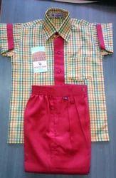 School Uniform Check Cloth