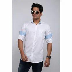 Designer White Linen Shirt
