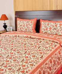 Gold Printed Bed Sheet Cover