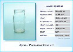 1000 GMS Square Jar