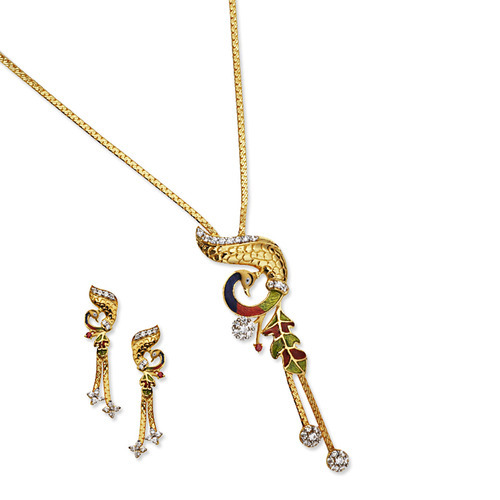 Chain pendant set manufacturer from coimbatore chain pendant set mozeypictures Image collections