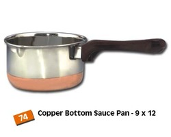 Copper Bottom Steel Tea Coffee Sauce Pans