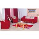 European Red Fashion Sofa Chair